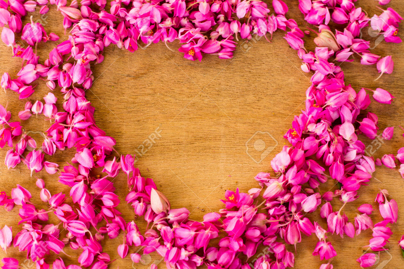 Place a small flower pink heart shaped stock photo picture and place a small flower pink heart shaped stock photo 52615227 mightylinksfo