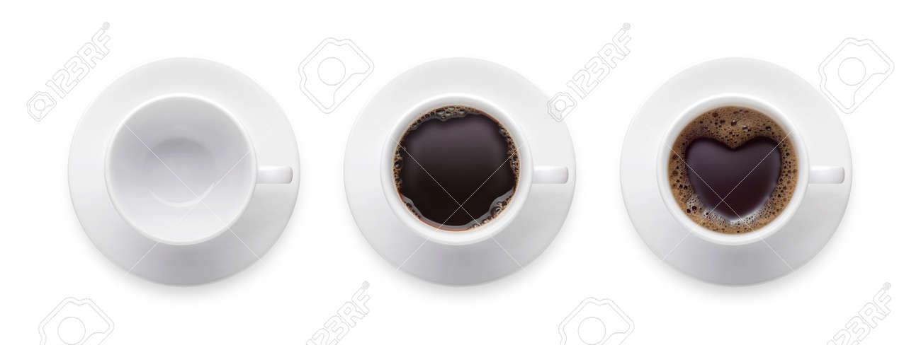 Herzform Oder Liebes Symbol Auf Kaffeetasse Leere Kaffeetasse