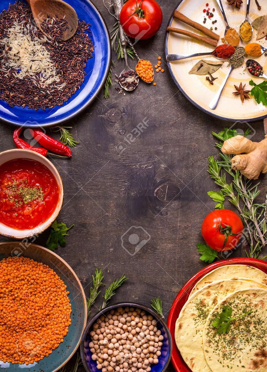 Tradicional Para Granos De Cereales De Cocina Asiática O Oriental ...
