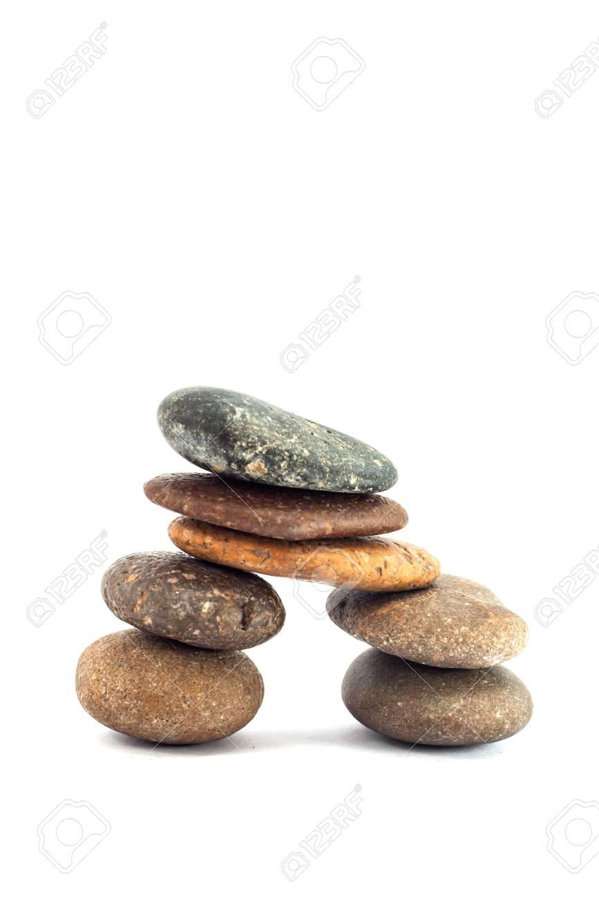 pebble stone isolated on white background Stock Photo - 13659302