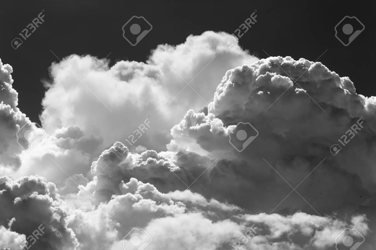 Black and white clouds smoke on sky stock photo 65355535