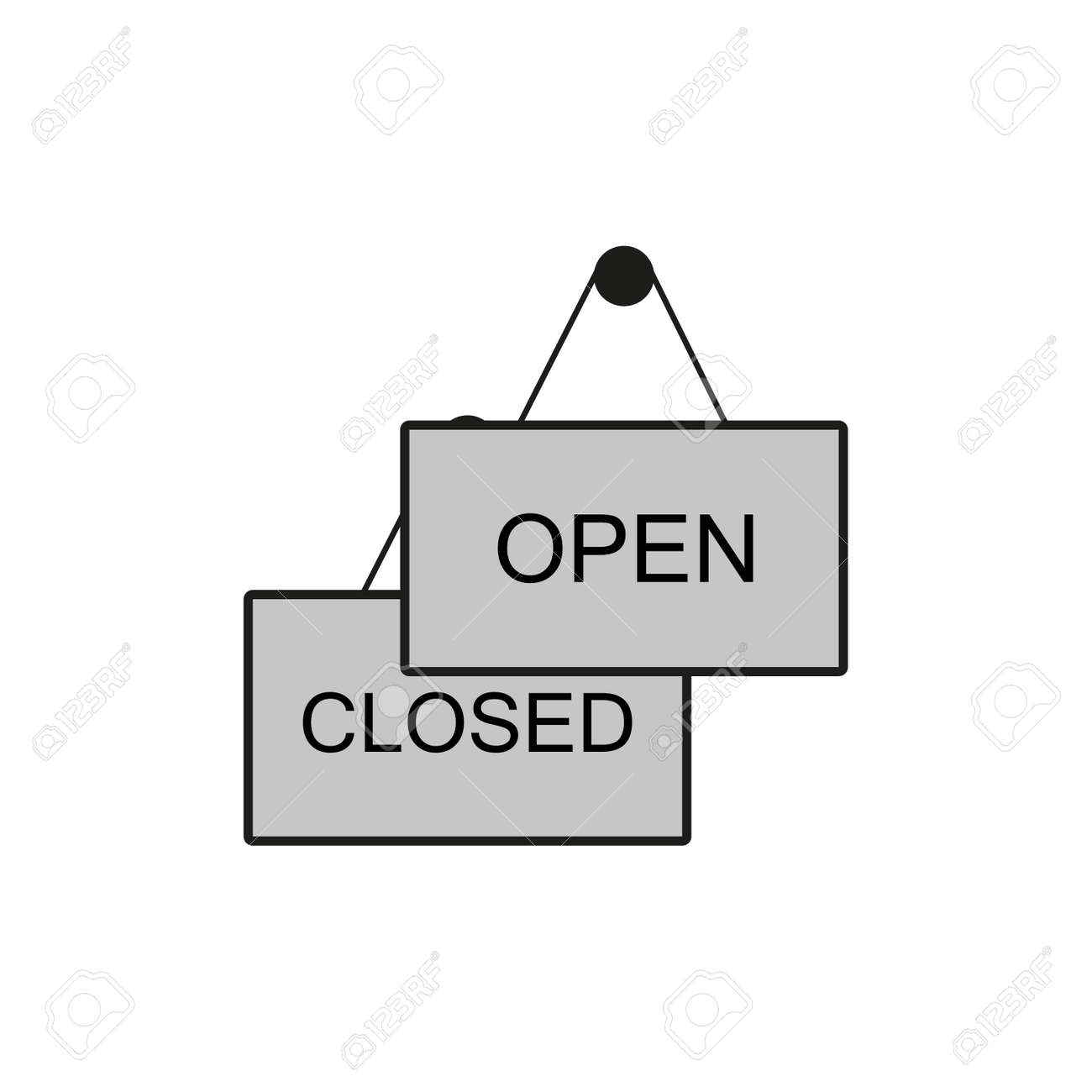 plate open closed icon - 140456274