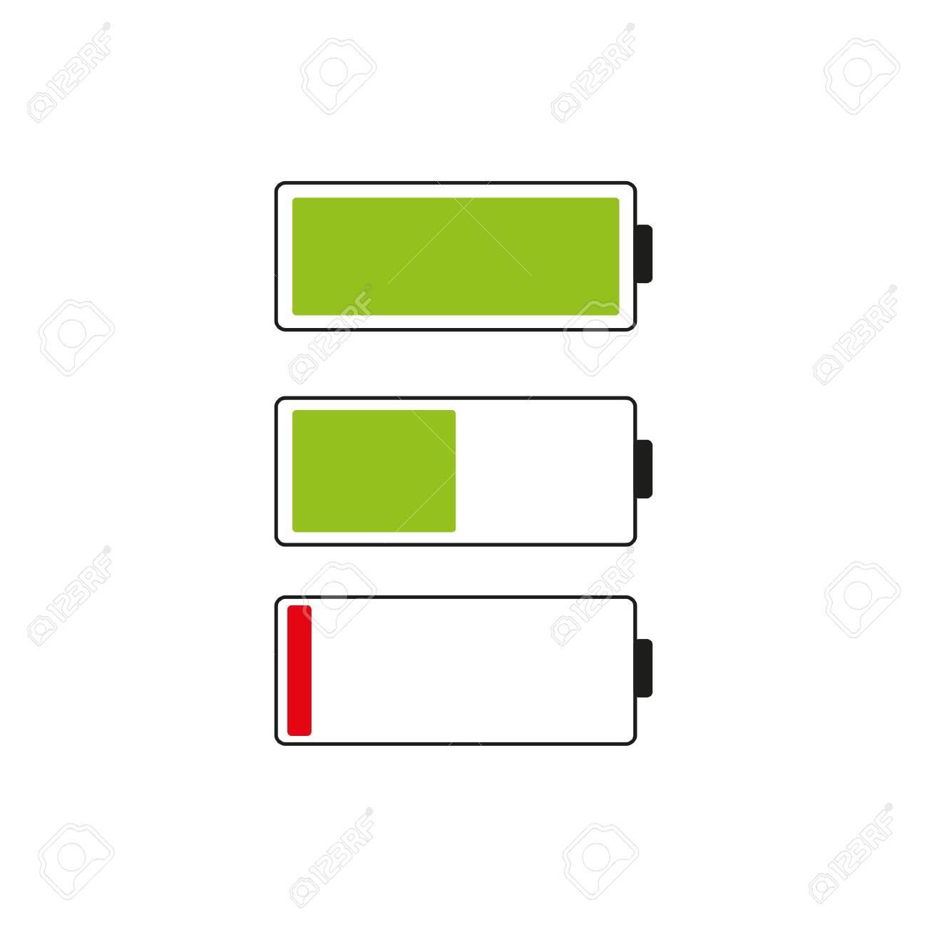 Battery indicator icon. Isolated isolated on white background. - 140456284