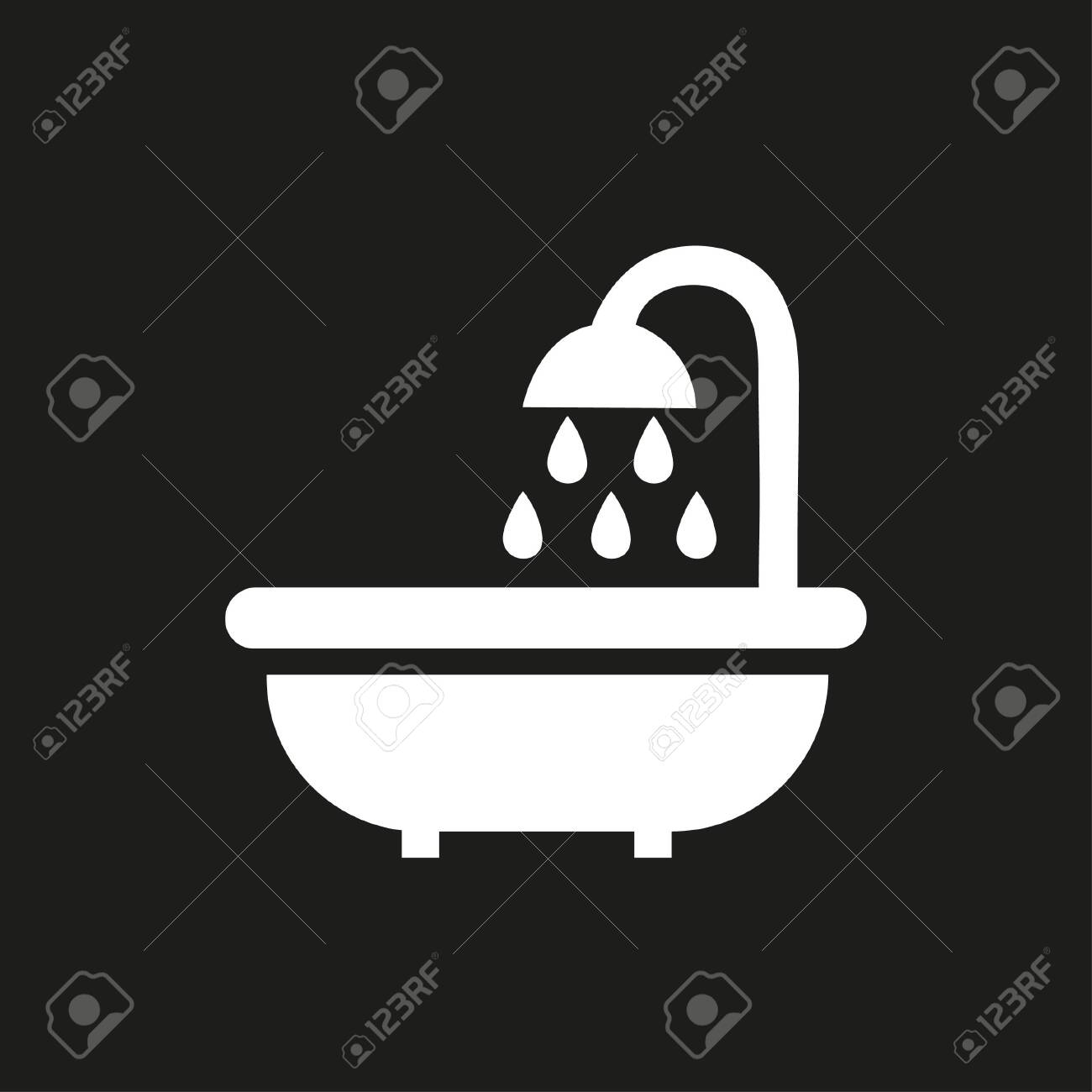 Bathroom icon with shower - 140316433