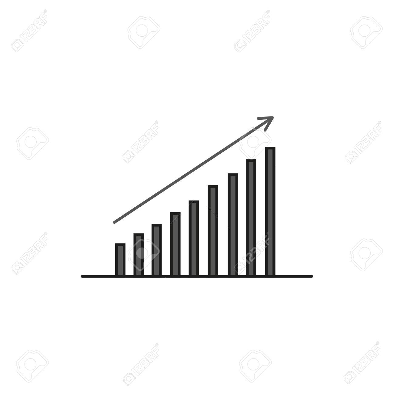 Bar chart. Business Icon - 140316437