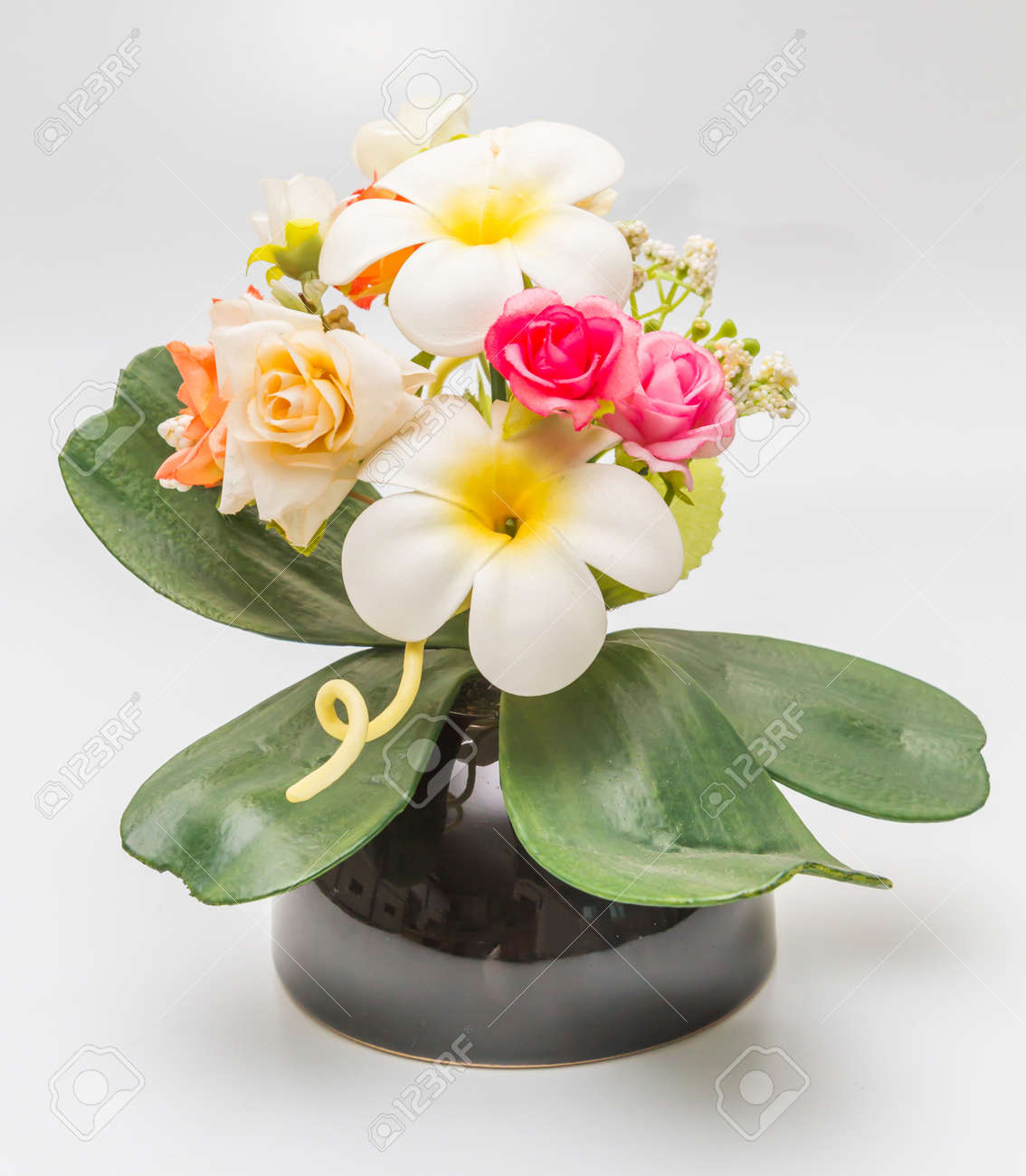 Faux Fleur Colore Decoration Fleur Artificielle Avec Plumeria Et De