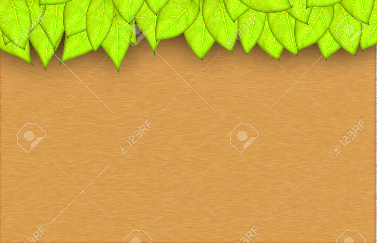 leafs abstract background with place for your text Stock Photo - 14190955