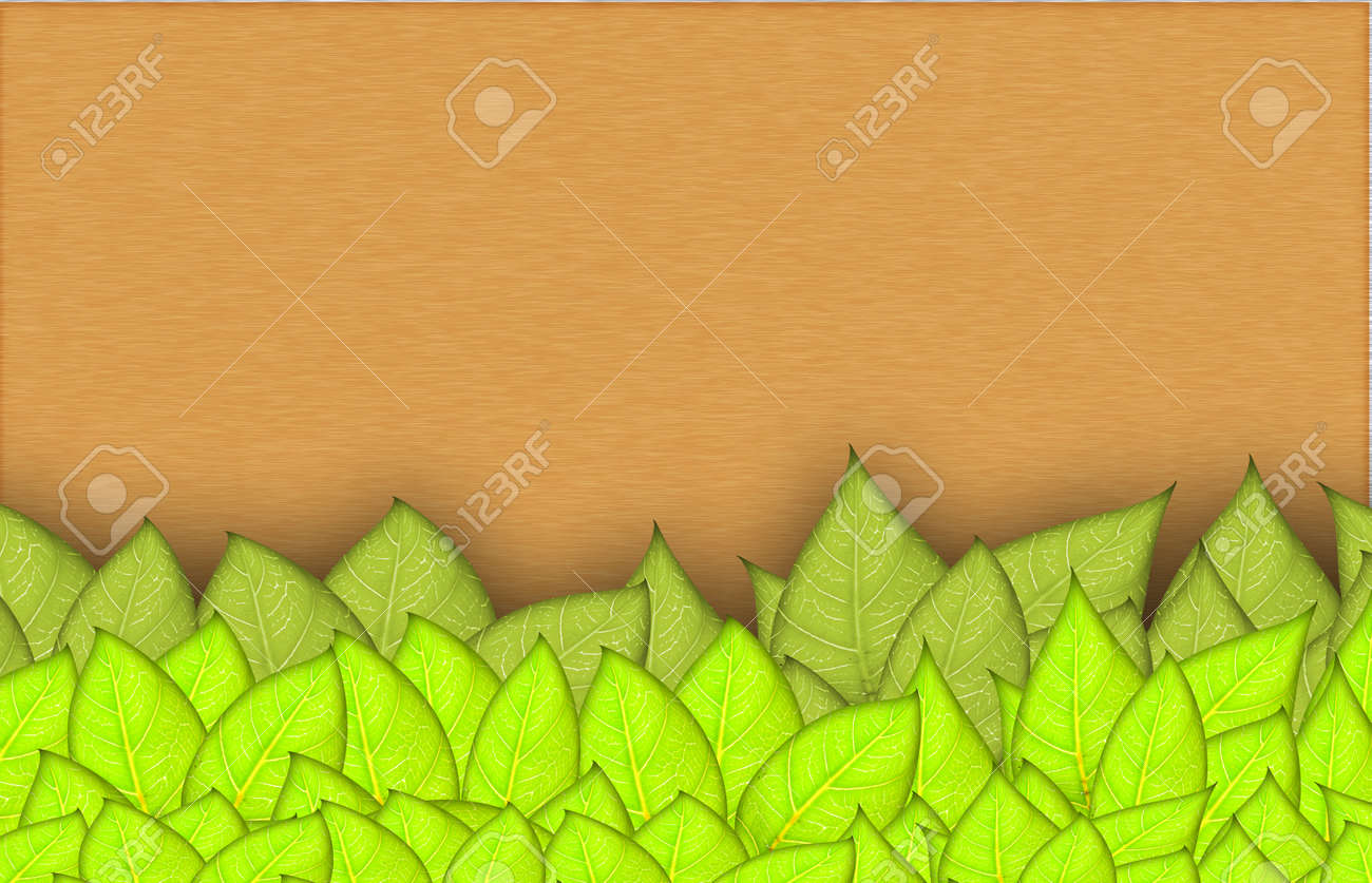 leafs abstract background with place for your text Stock Photo - 14190957
