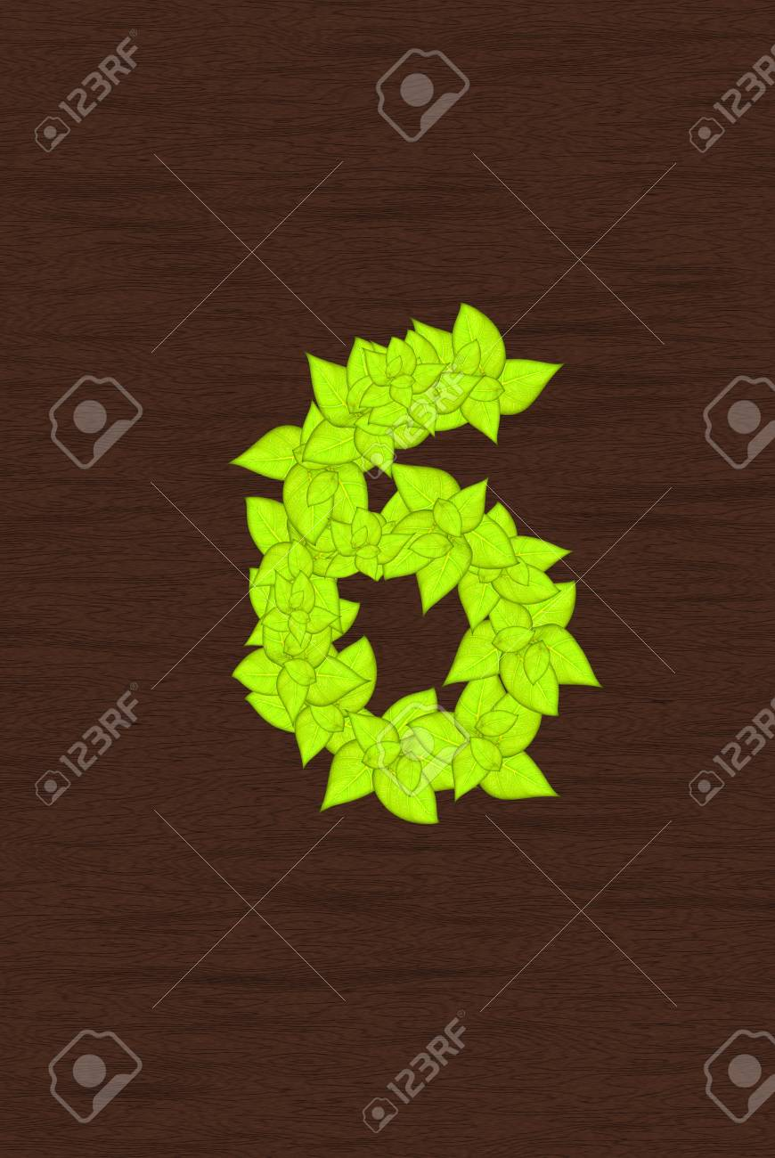 leafs abstract number Stock Photo - 14190998