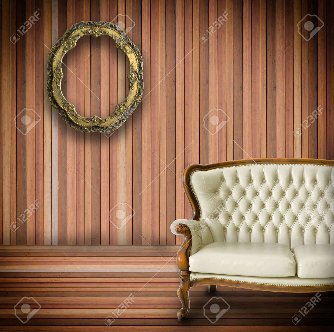 Vintage room  and old fashioned armchair Stock Photo - 16261661