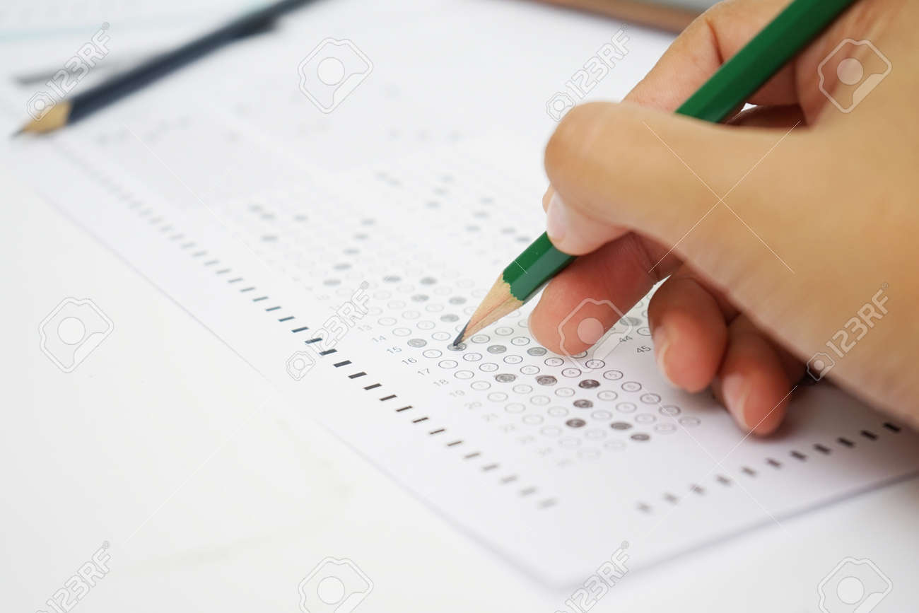 test form with pencil - 110898755