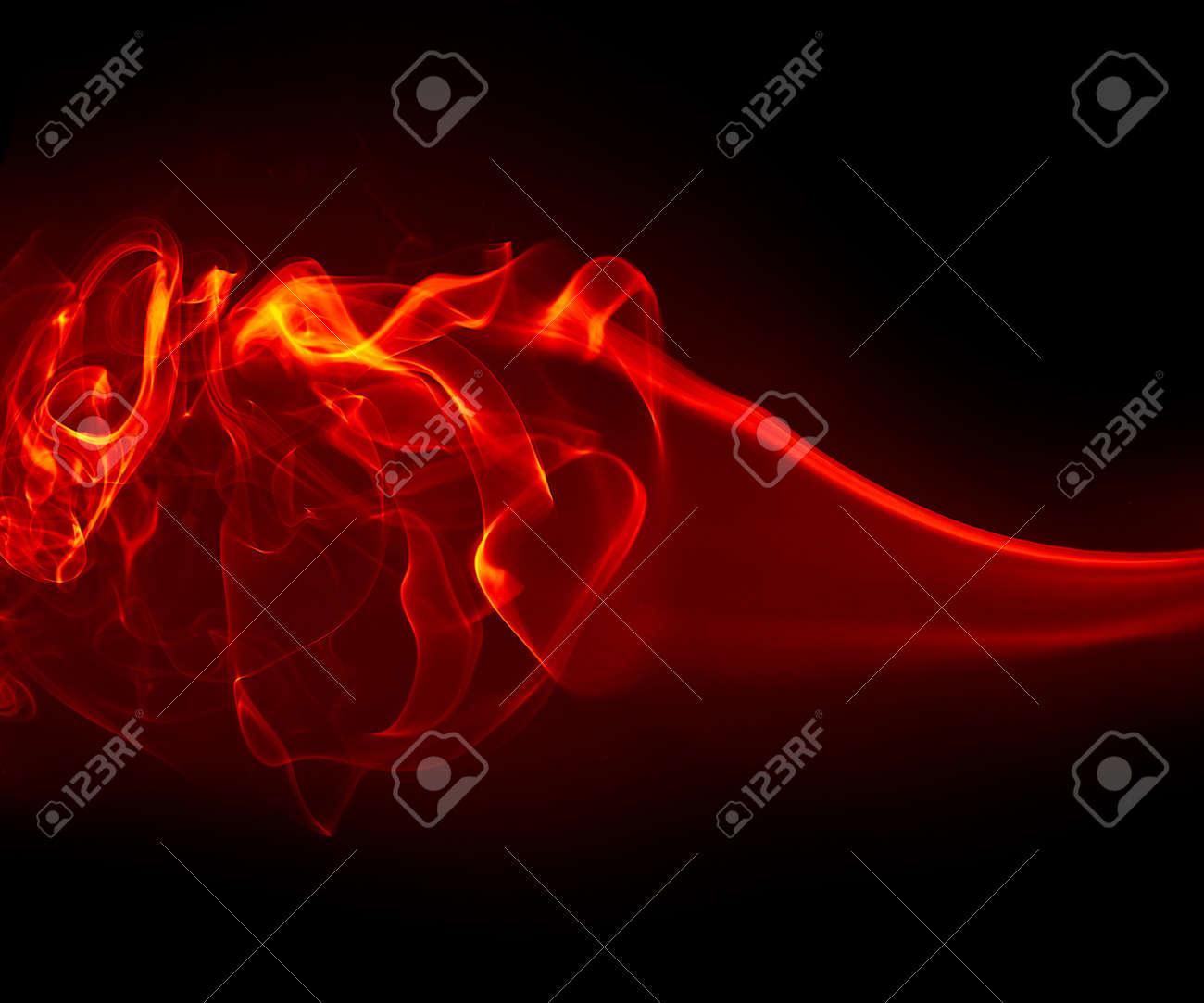 Abstract smoke isolated on black Stock Photo - 11838360