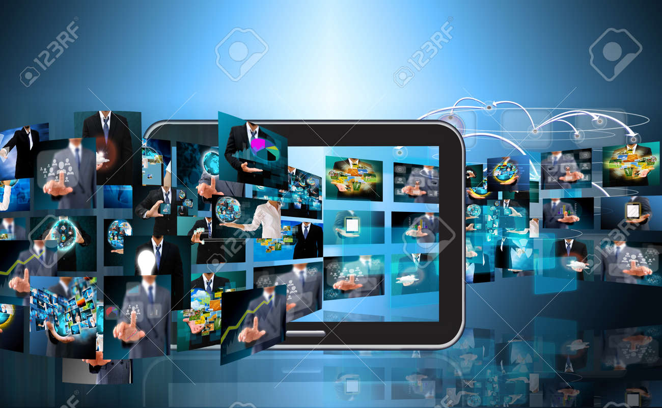 Television and internet production .technology and business concept - 21051745