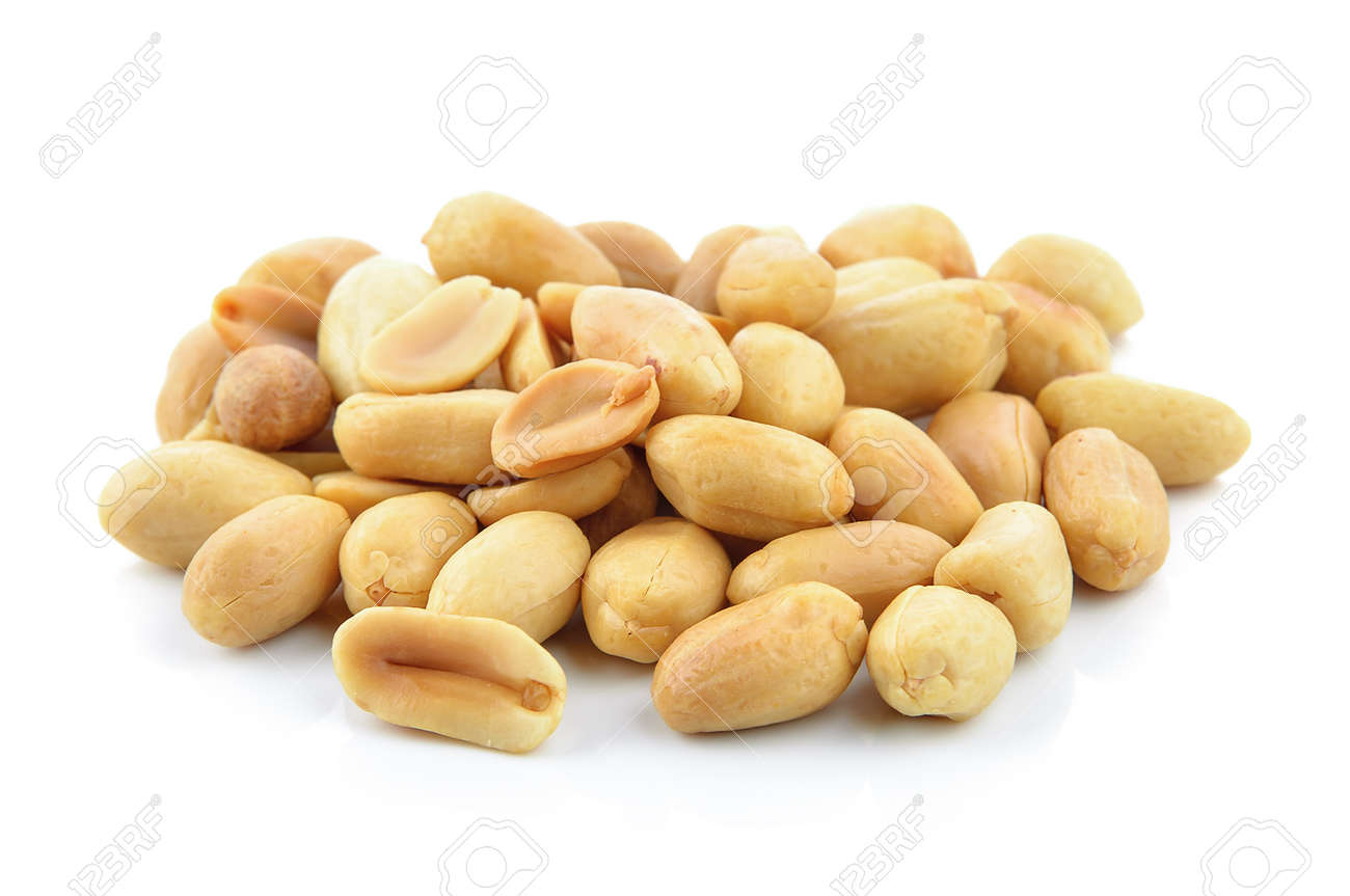 peanuts on white background - 47335804