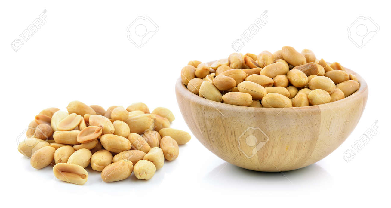 peanuts on white background - 47729297