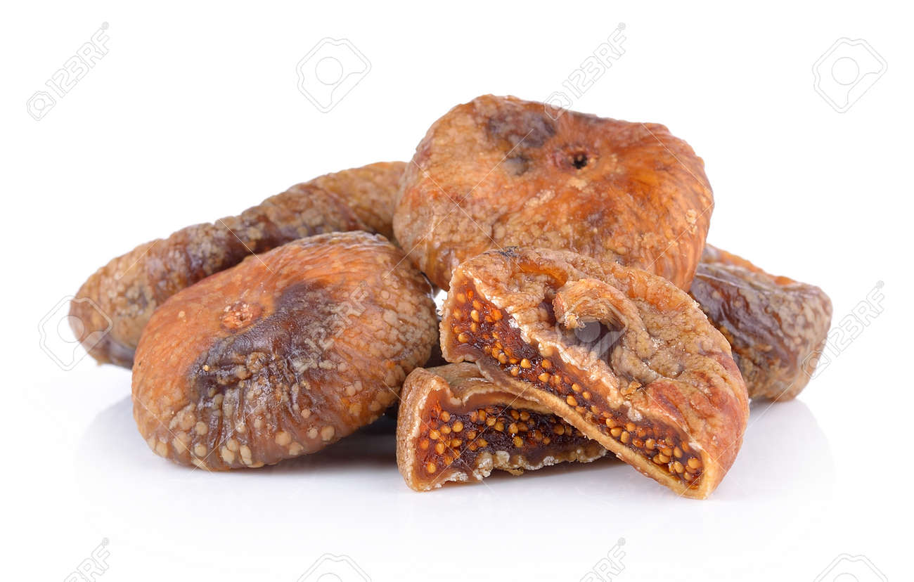 Dried figs isolated on a white background - 48862704