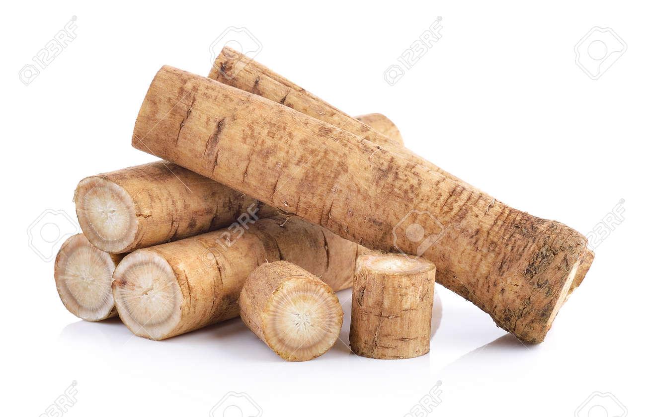 Fresh Burdock roots on white background - 52340493