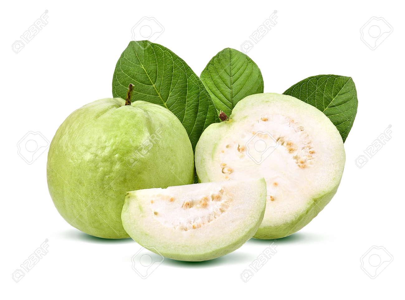 Guava fruit isolated on white background. - 87920714