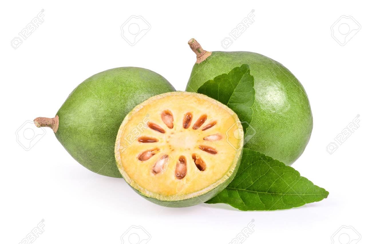 Bael fruit on white background - 90620881