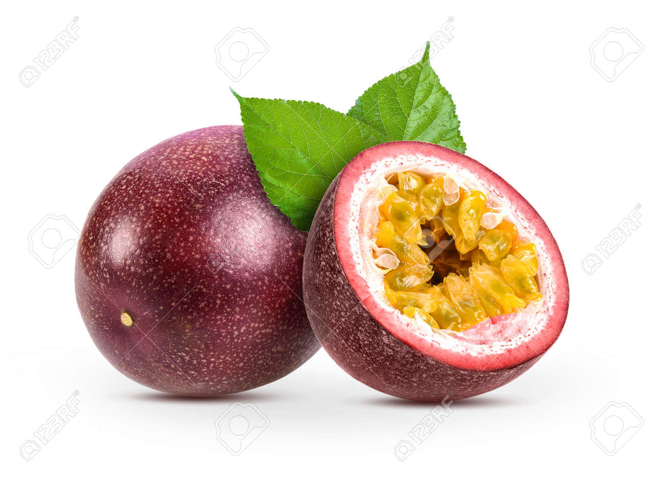 passionfruits isolated on white background - 93506531