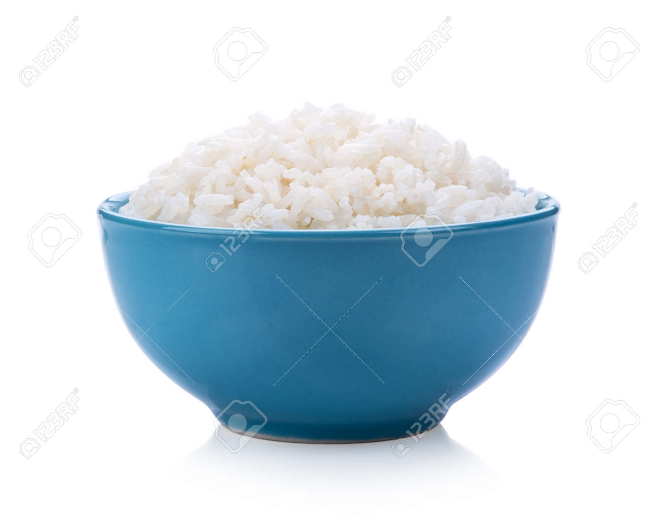 Rice in a bowl on white background - 94072664