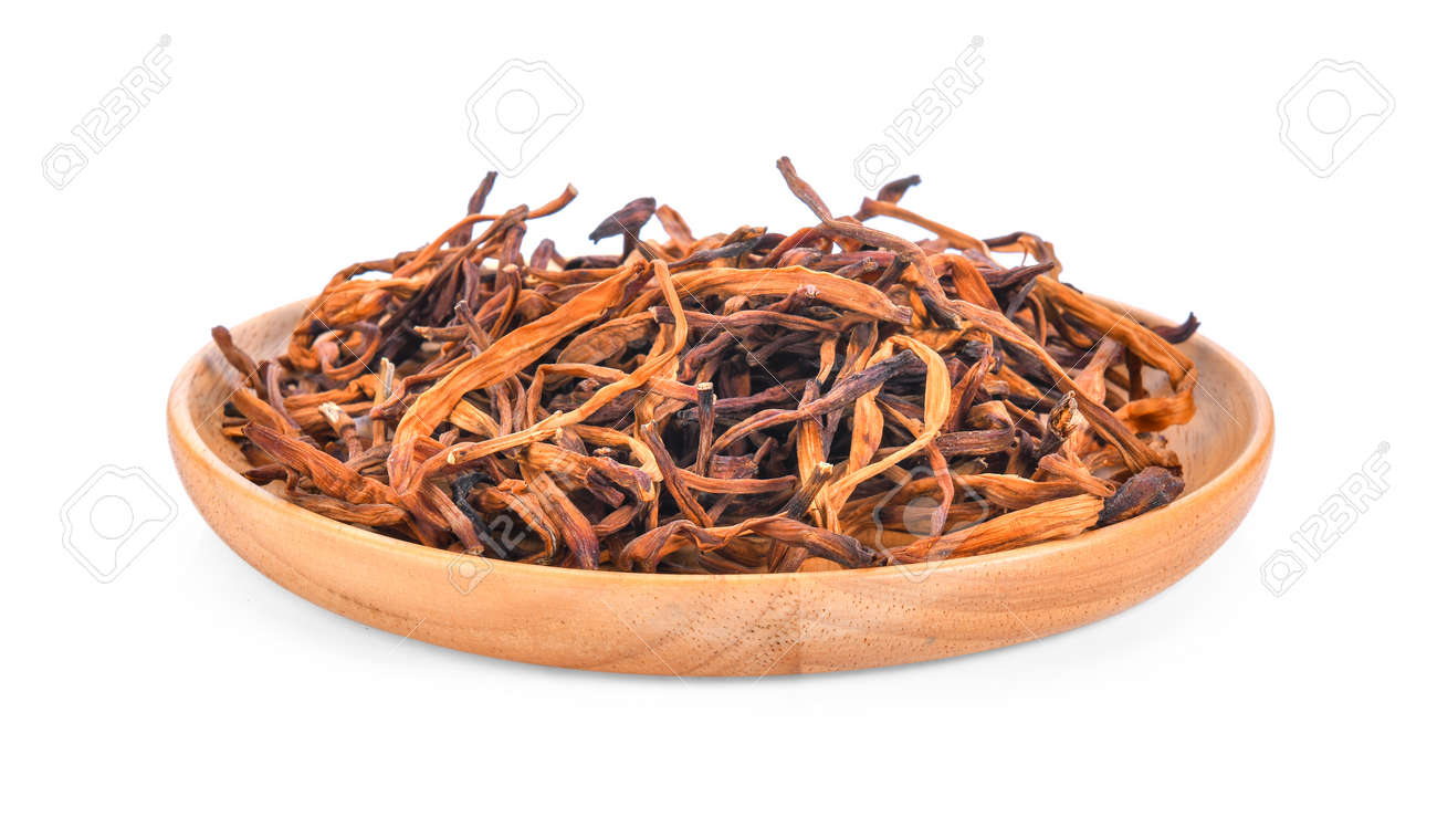 Dried day lily flower in wood plate isolated on white background dried day lily flower in wood plate isolated on white background stock photo 97913091 izmirmasajfo