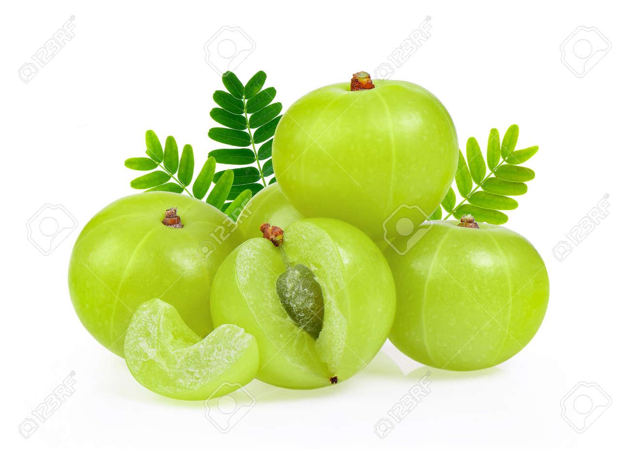 Indian gooseberry isolated on white background - 108885064