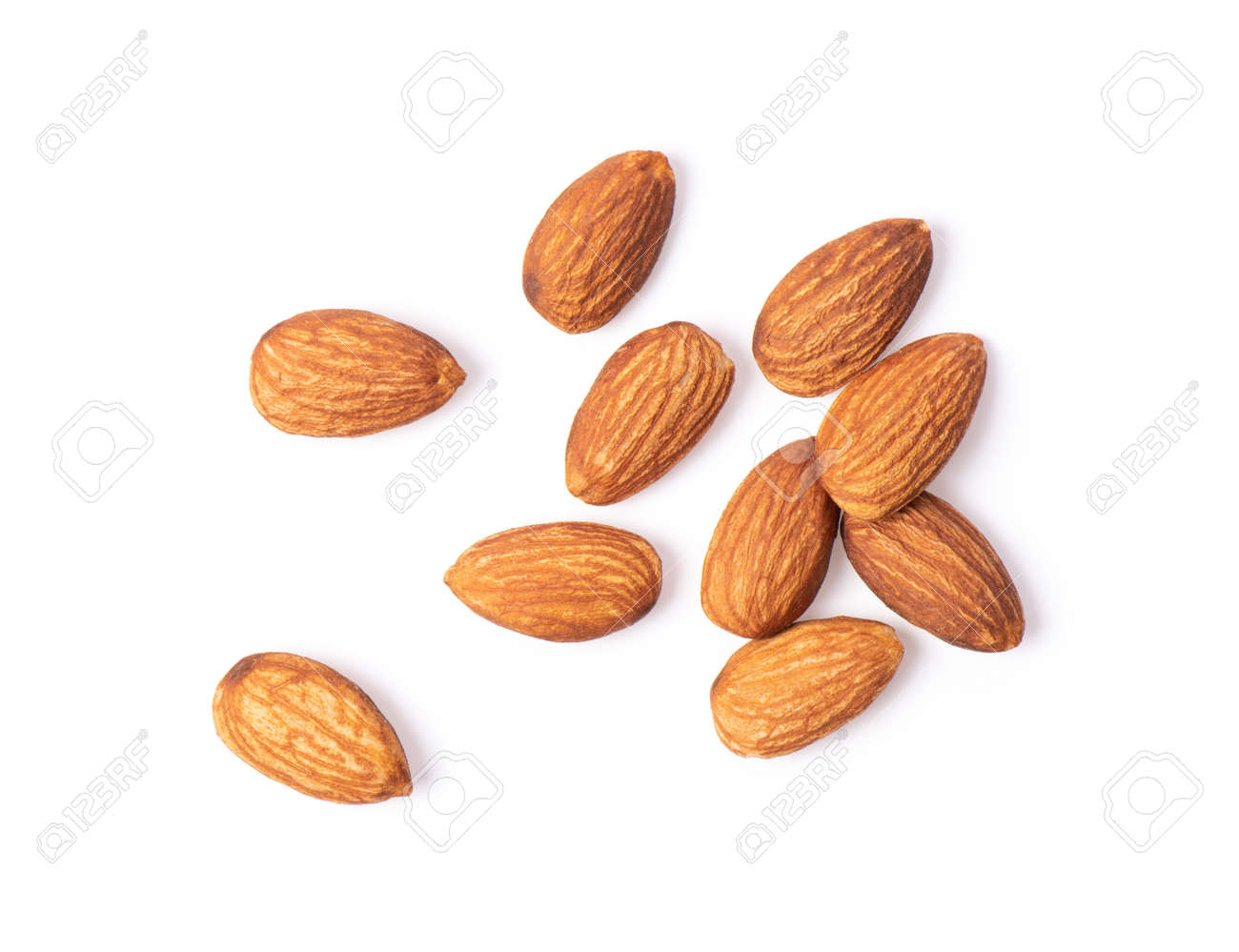 Almond. Nuts isolated on white background - 110849014