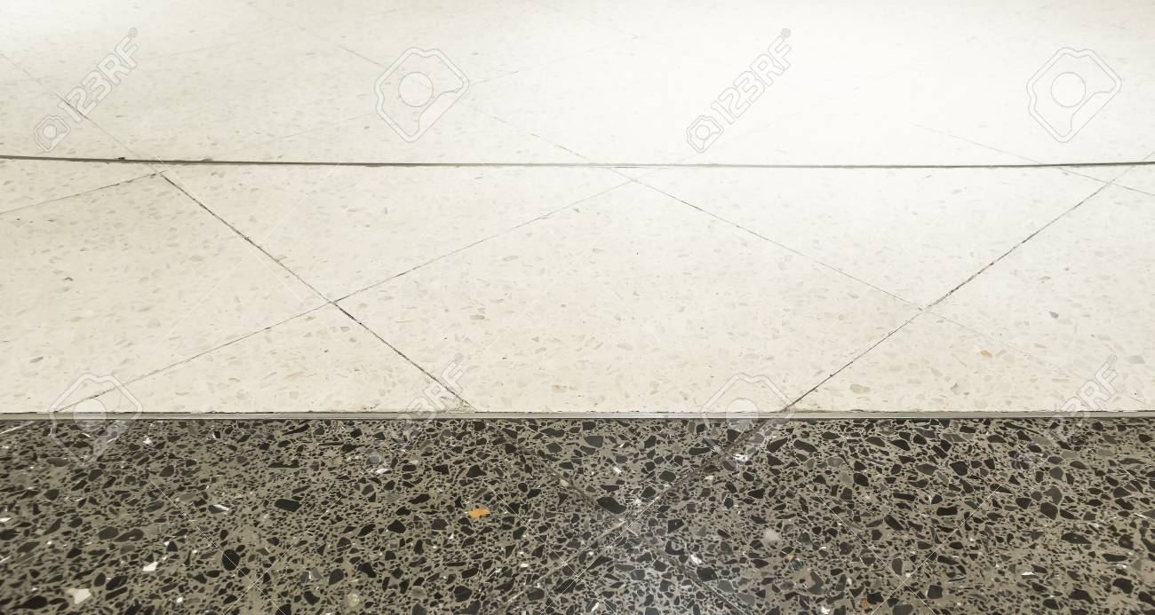 Black And White Terrazzo Floors Pattern Backgrounds