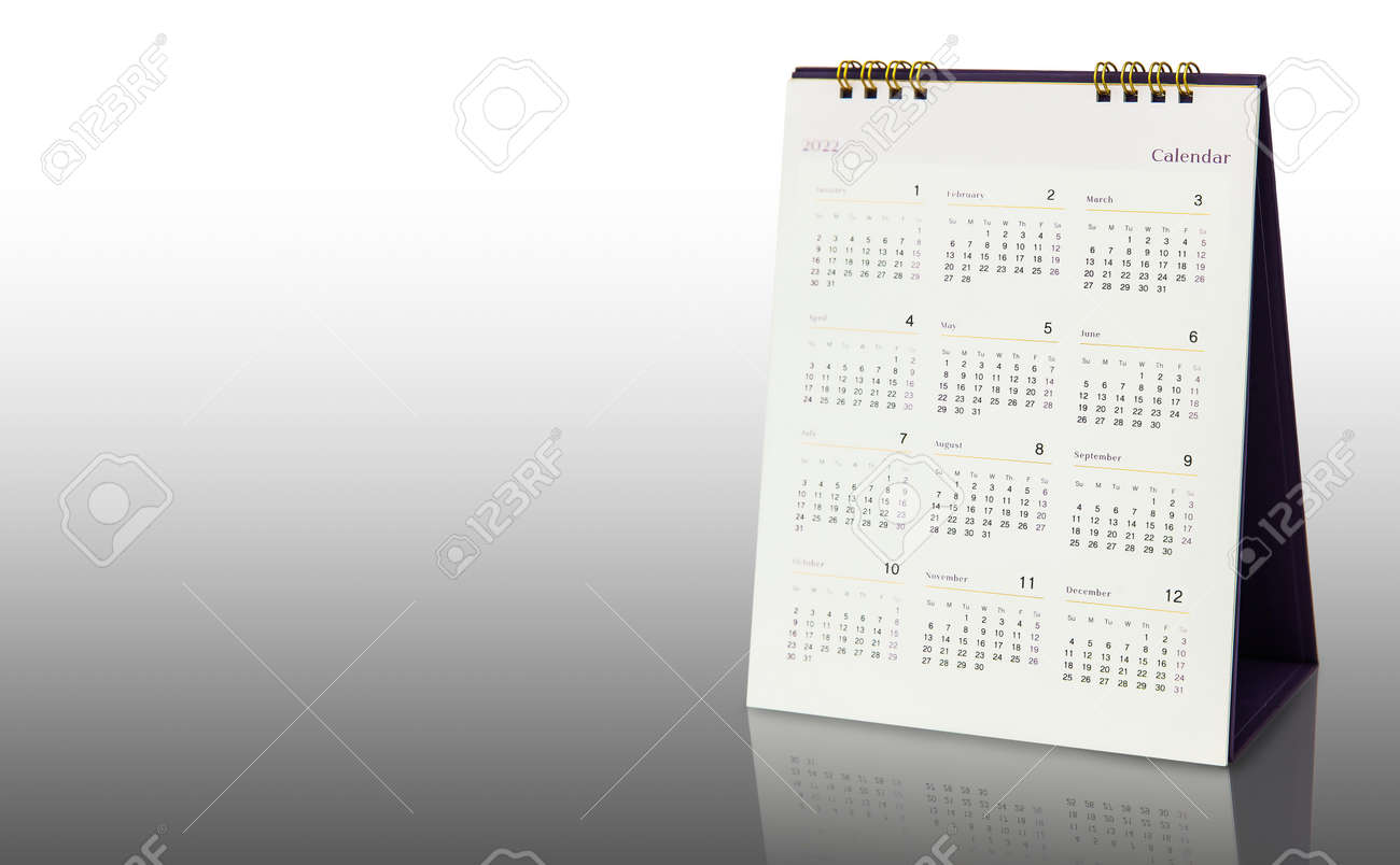 12 Months Desk Calendar Year 2022 Backgrounds Stock Photo Picture And Royalty Free Image Image 166042789