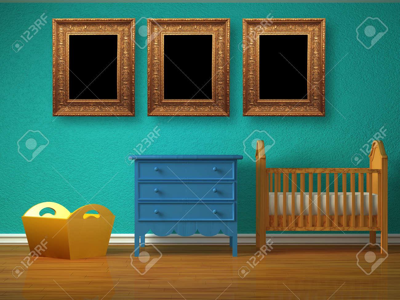 Camere Da Letto Bambino : Camera da letto bambino con un presepe. foto royalty free immagini