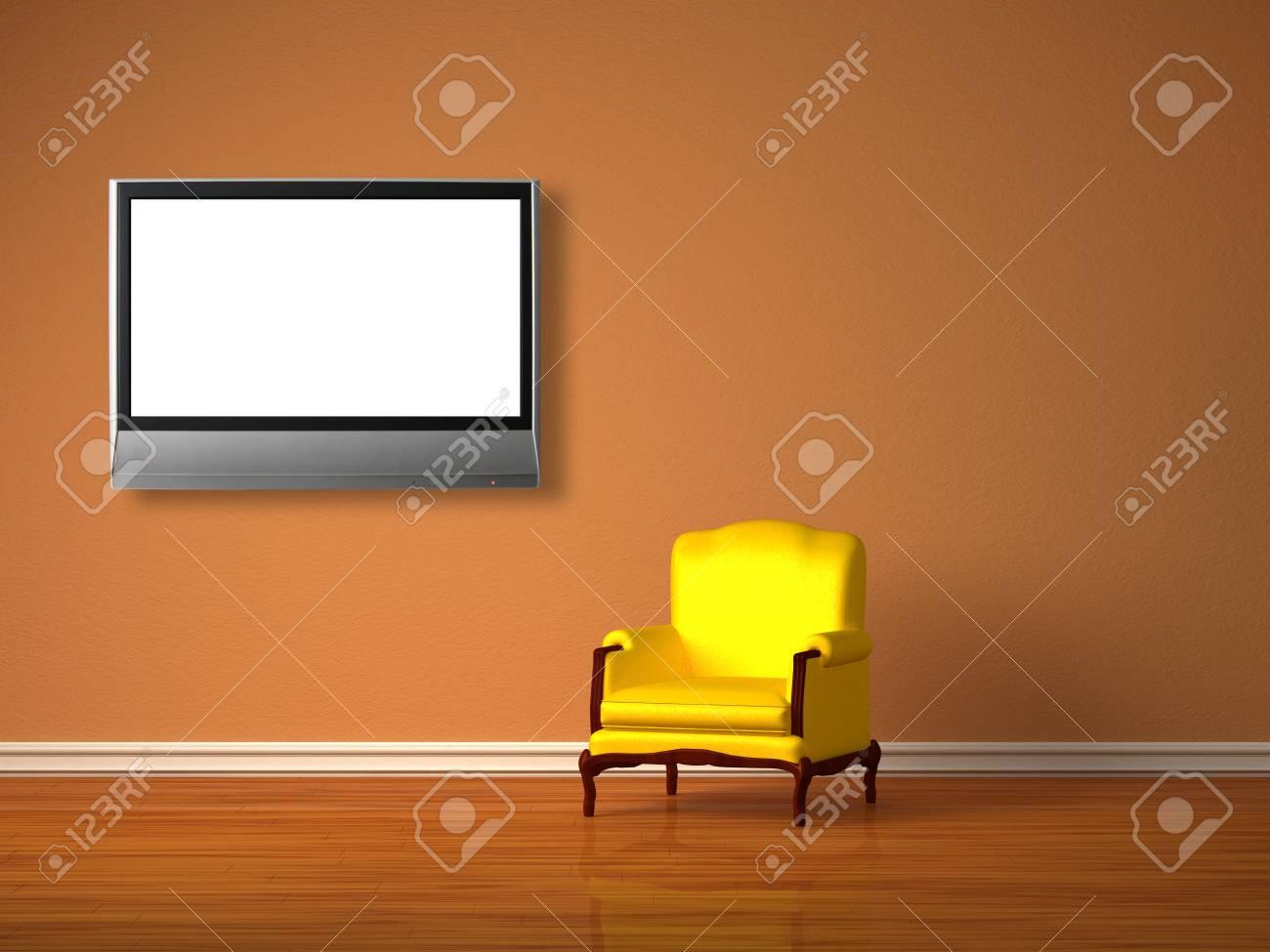 Alone luxurious chair in minimalist interior Stock Photo - 13138559
