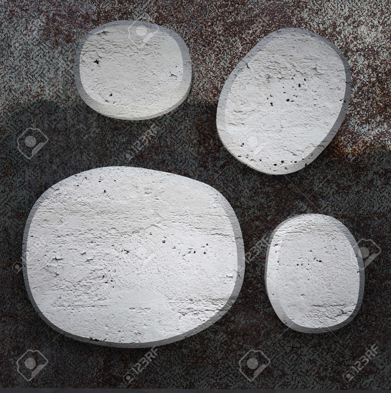 Curved  concrete plates on  metallic background texture Stock Photo - 13140049
