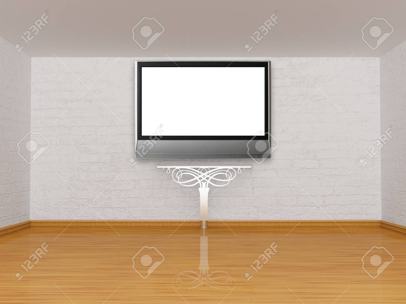 Alone console-table in gallery Stock Photo - 13171987