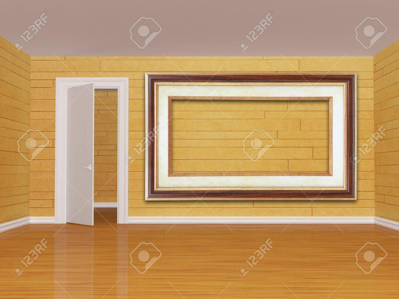 empty room with open  door Stock Photo - 13172000