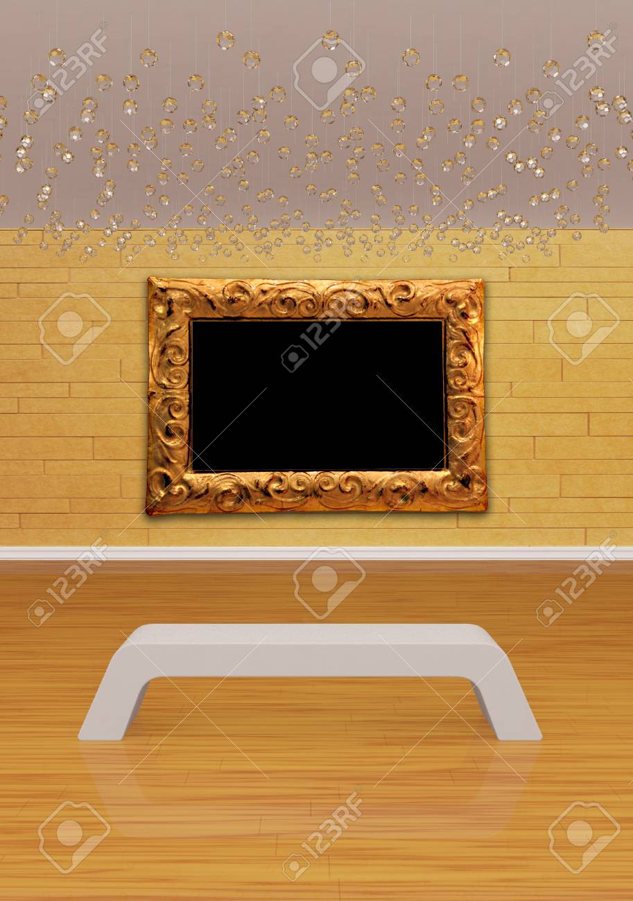 Gallery's hall with bench Stock Photo - 13171892