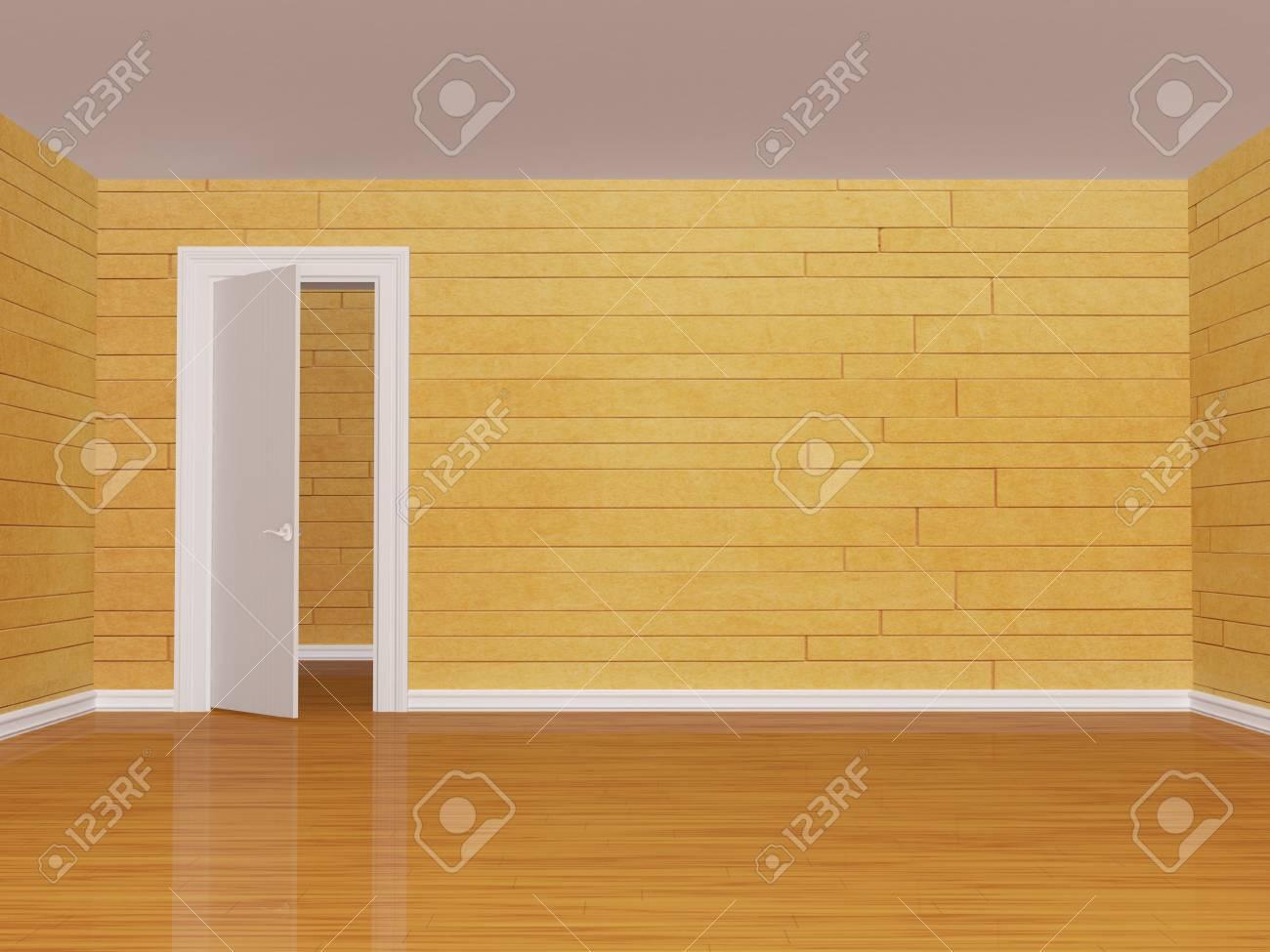 empty room with open  door Stock Photo - 13171977