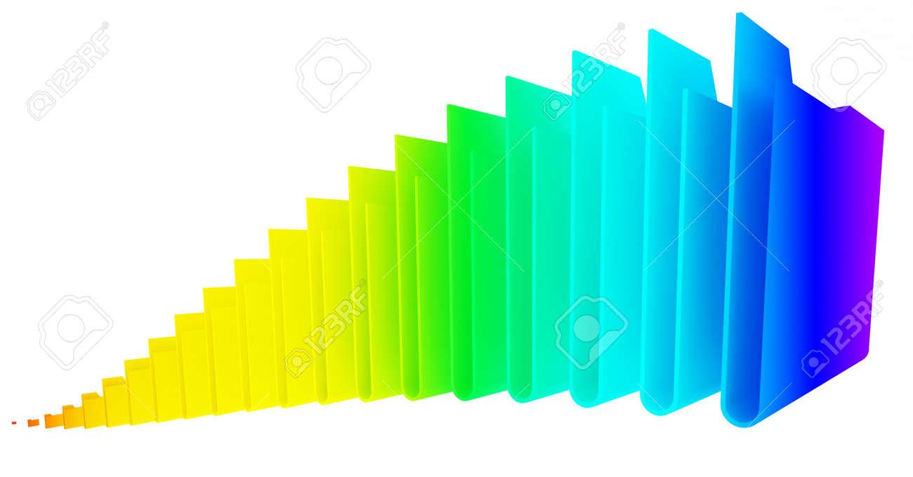 computer folders on white background Stock Photo - 13708587