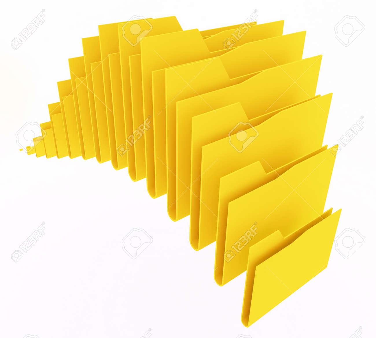 computer folders on white background Stock Photo - 13709135