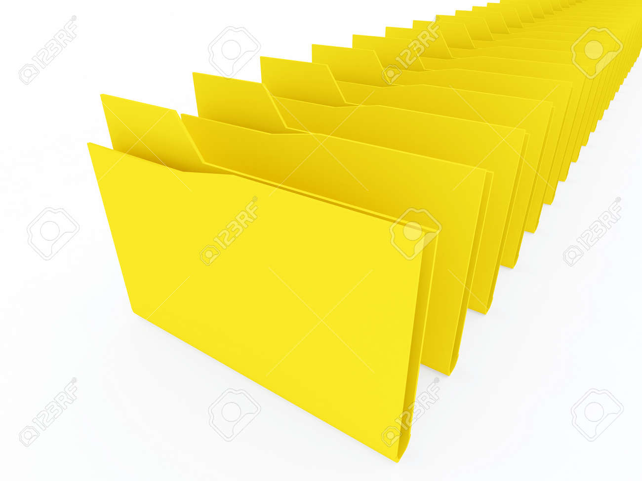 computer folders on white background Stock Photo - 13709159