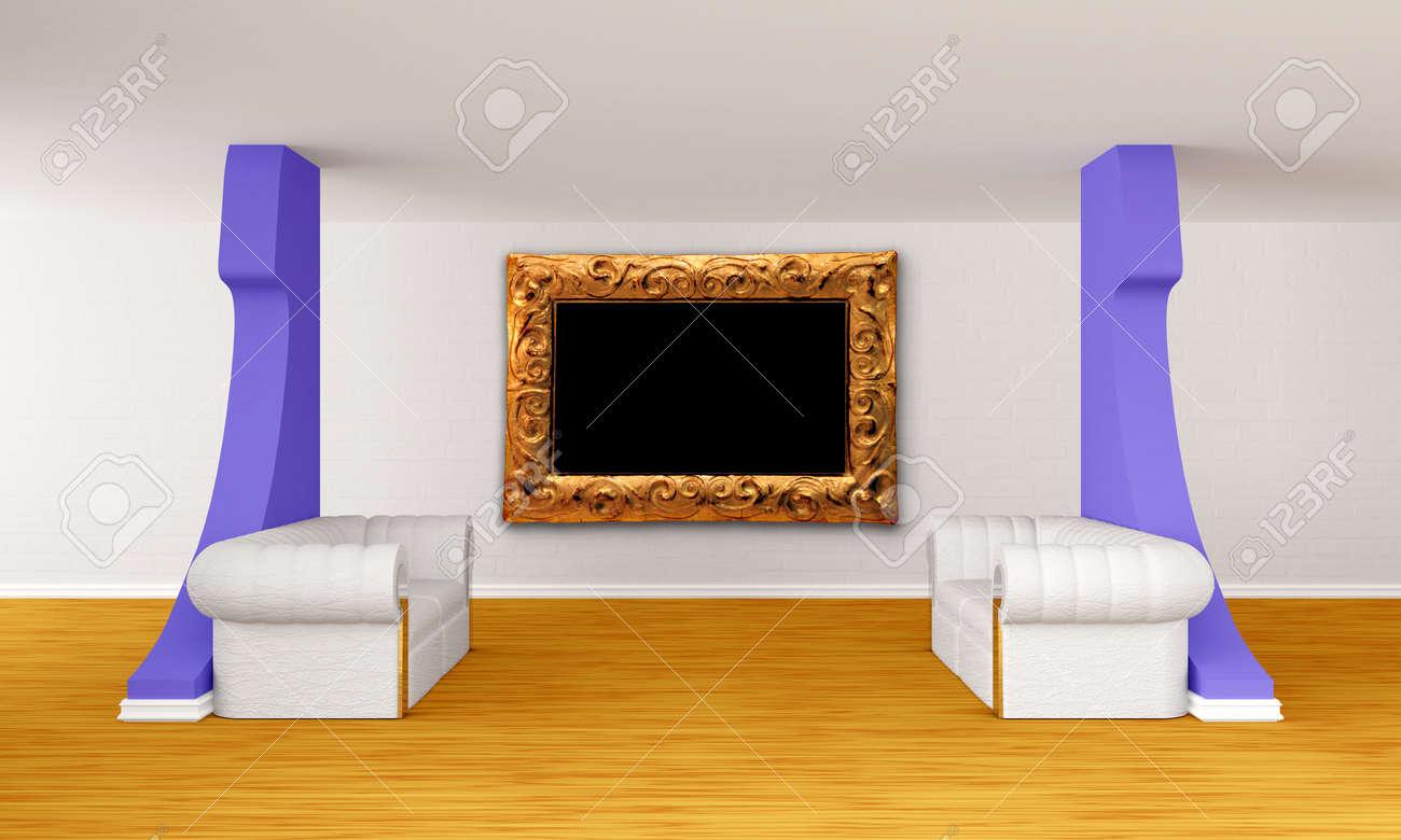 Immagini Stock - Hall Gallery Con Divani Di Lusso Image 13709233.