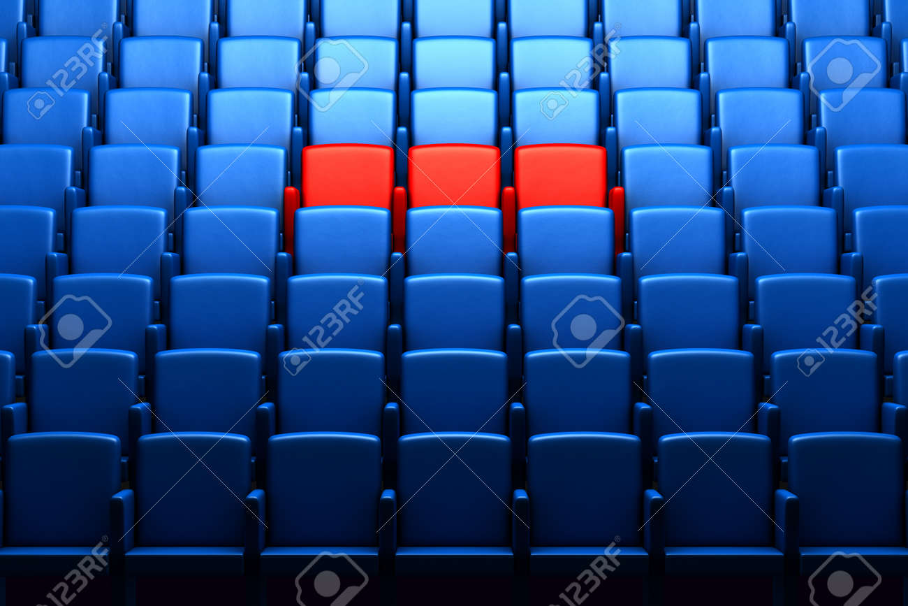auditorium with reserved seats Stock Photo - 14571449