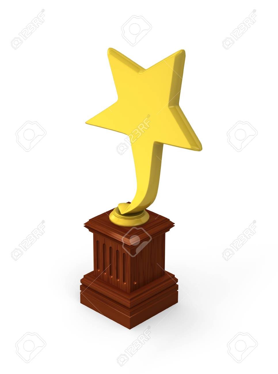 Golden star award isolated on the white background Stock Photo - 14652524