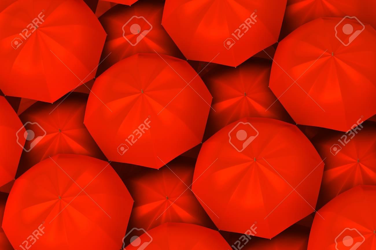 Red umbrellas background Stock Photo - 14652630
