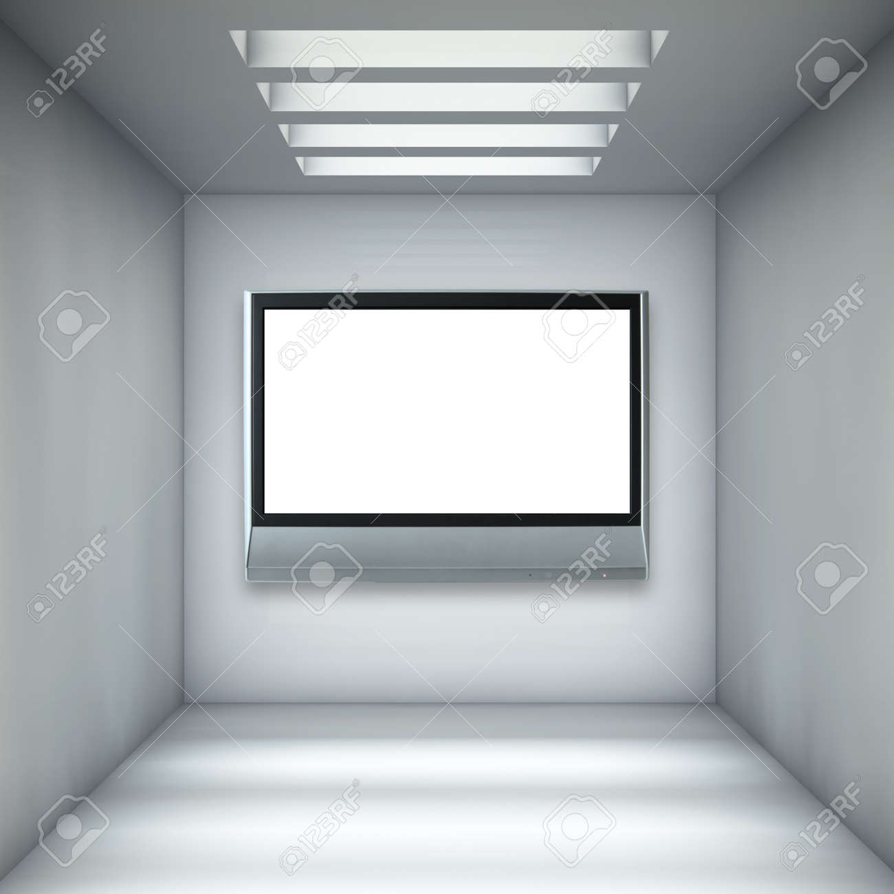 Empty gallery with lcd tv Stock Photo - 14723007
