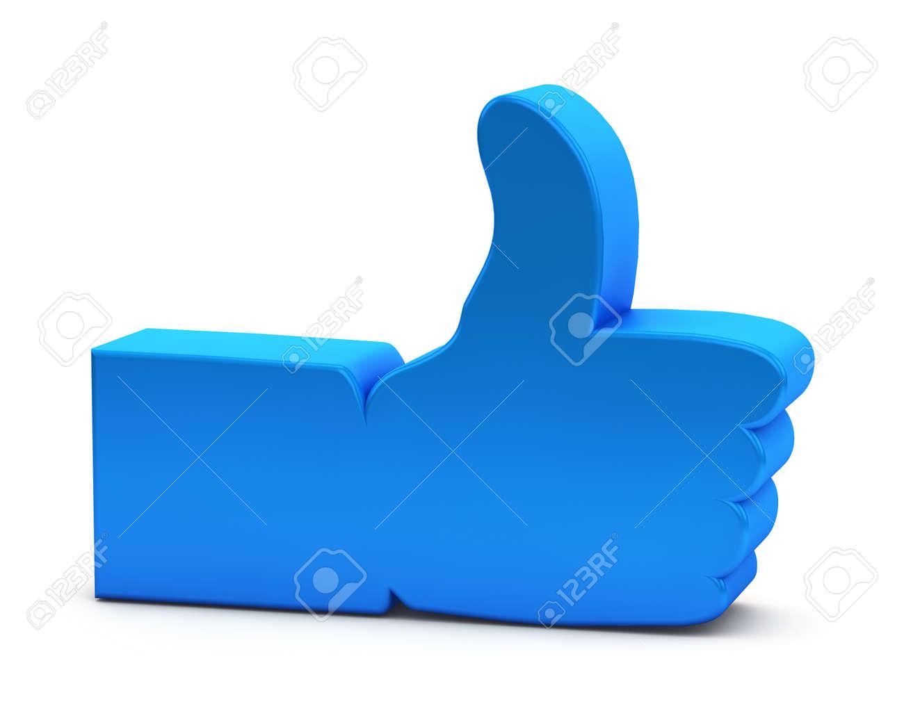 Like symbol on white background Stock Photo - 15101193
