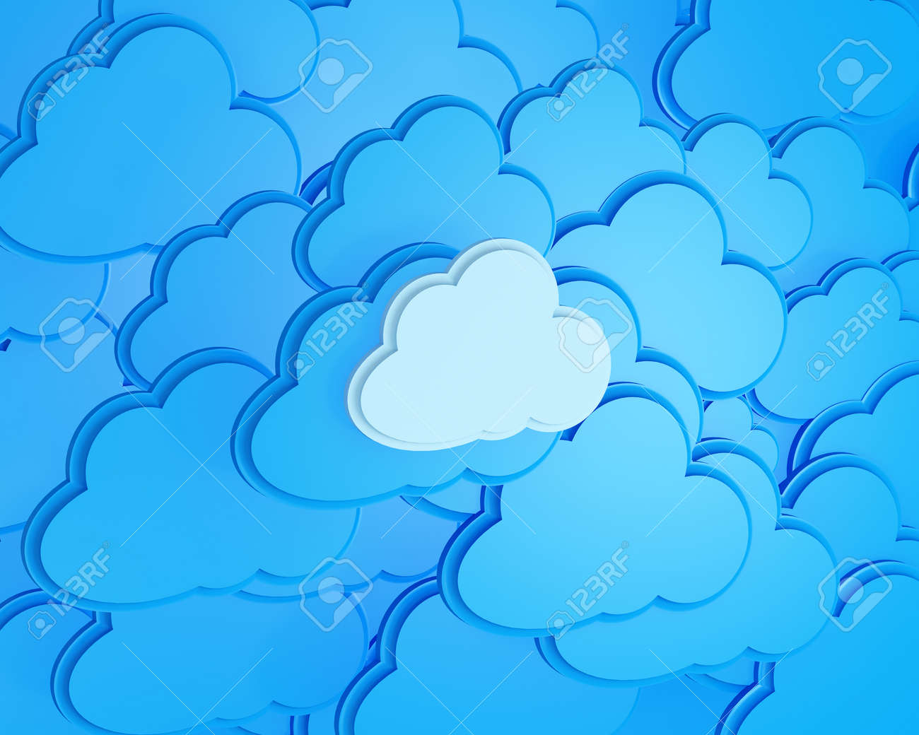 3d cloud computing icon background Stock Photo - 15125686