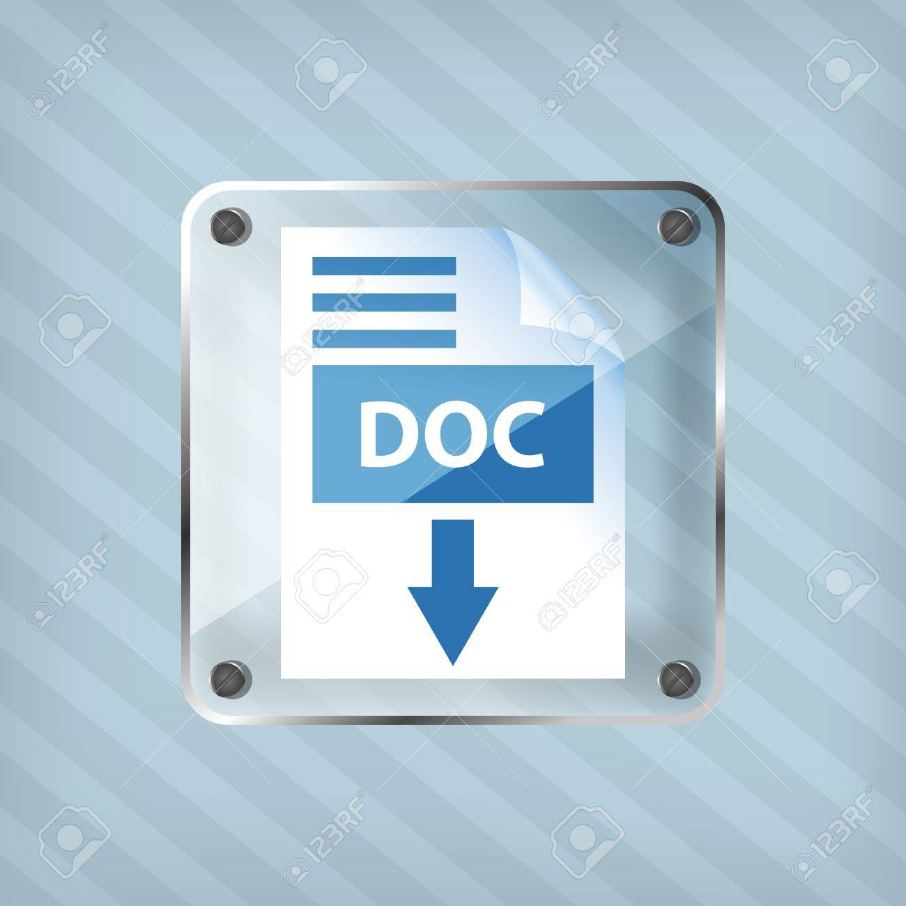 transparency doc download icon on a striped background Stock Vector - 18861785