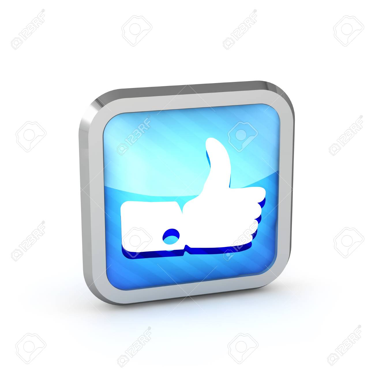 Blue striped like icon on a white background Stock Photo - 20071753