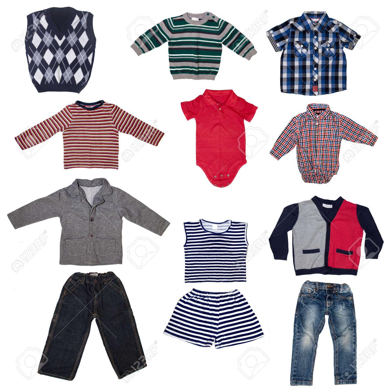 cc09b0342d0c Fashion Modern Male Baby Clothes.Collage Set Of Boy Kid Wear Stock ...